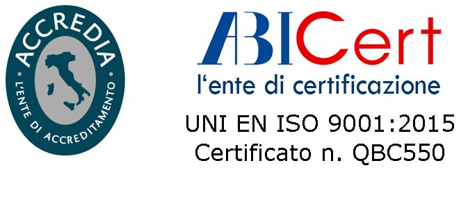 We are certified UNI EN ISO 9001:2015